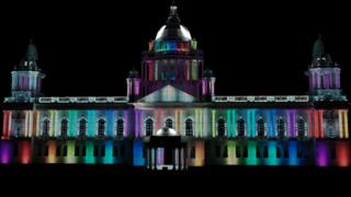 This is how Belfast City Hall could look lit up with rainbow colours to mark Belfast pride