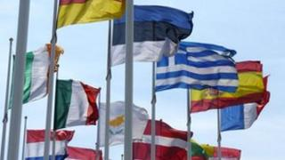 EU member state flags