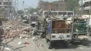 Scene of Lahore bombing in May 2009