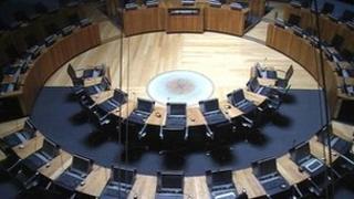 Senedd debating chamber