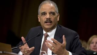 Attorney General Eric Holder testifies on Capitol Hill in Washington, 6 March 2013