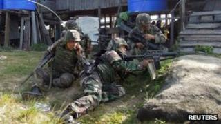 Malaysian soldiers in Sabah province (7 March 2013)
