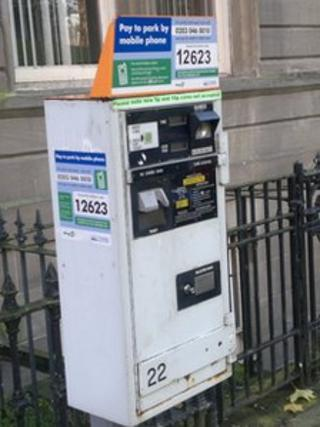 Pay-by-phone meter
