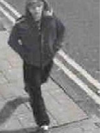 CCTV image in connection with tyre slashing