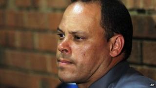 Detective Hilton Botha in court (21 February 2013)