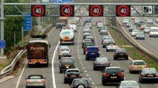 Managed motorway scheme on M42