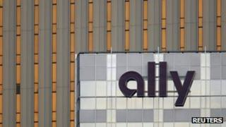 Ally Financial sign