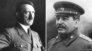 Adolf Hitler and Joseph Stalin