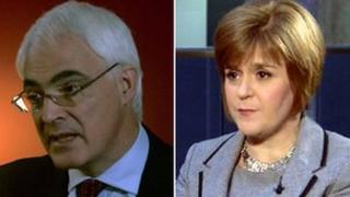 Alistair Darling and Nicola Sturgeon