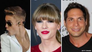 Justin Bieber, Taylor Swift and Joe Francis