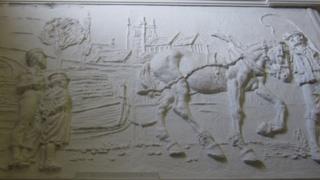 Decorated panels in Sydenham School
