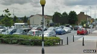 Google Street view of the car park where the attack took place