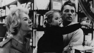 Richard Burton with wife Sybil and their daughter Jessica