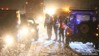 Emergency services help drivers on the A23 in Sussex