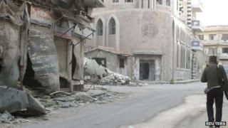 Rebel soldier in Homs on 11/3/13