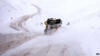 Snowfall near Tomintoul