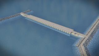 An artist's impression of how the lagoon could look