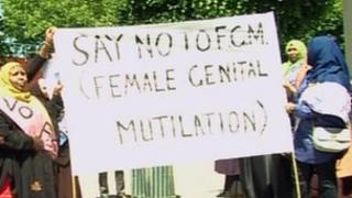 Women in Bristol protesting against FGM
