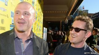 Napster founder Shawn Fanning and director Alex Winter