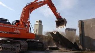 Maze prison being demolished