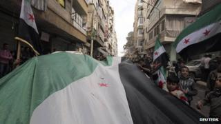 Opposition demonstration in Aleppo - March 2013