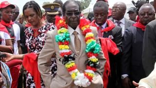 President Mugabe during celebrations to mark his 89th birthday