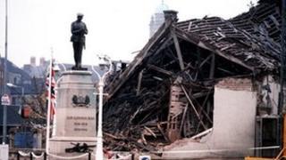 Scene of Enniskillen bomb in 1987
