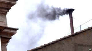 Black smoke at the papal conclave