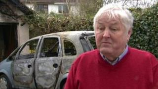 Paul Madden, whose car was destroyed in an arson attack in Antrim