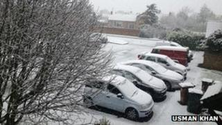Snow in Bicester