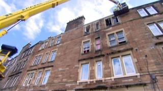 A woman died in the fire at the Albion Gardens flat