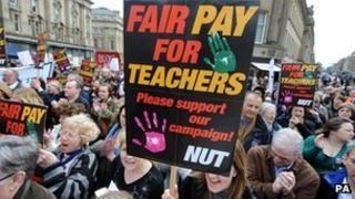 Teacher union march