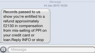 PPI spam text