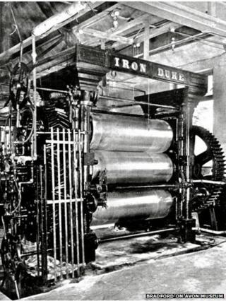 The Iron Duke rubber rolling machine