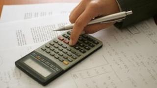 calculator and pen