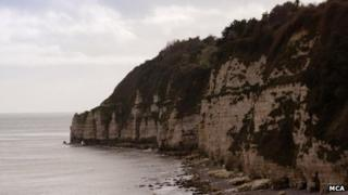 Cliffs close to where the rescue happened