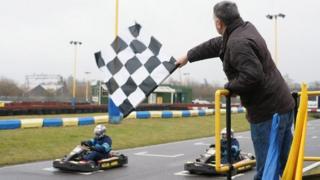 Racing at Grand Prix Karting