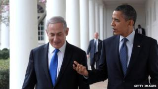 Israeli Prime Minister Benjamin Netanyahu meets President Barack Obama at the White House on 5 March 2012