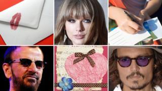 Letter, Taylor Swift, postcards, Johnny Depp, card, Ringo Starr