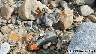 Mortar round found on Pembroke Bay, Guernsey