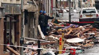 Scene of aftermath of the Omagh bomb