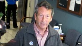 Former South Carolina Governor Mark Sanford speaks to reporters on 19 March 2013