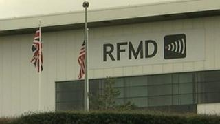 RFMD factory in Newcastle Aycliffe