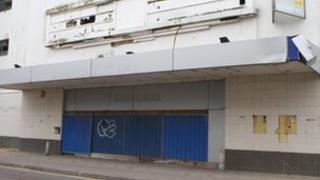 The derelict Odeon cinema building in Cheltenham