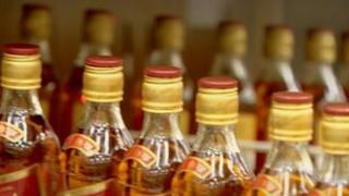 Whisky bottle production