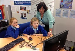 Pupils from a school in Cheltenham