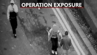 CCTV footage from Operation Exposure