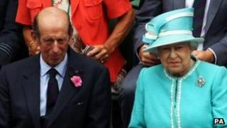 The Duke of Kent and the Queen