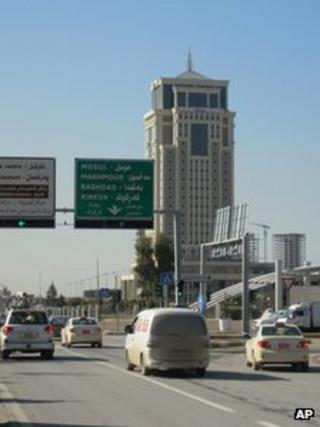 A street scene in Irbil