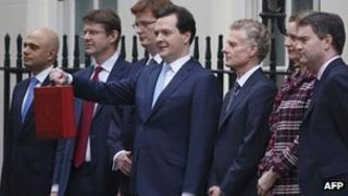 Treasury team in Downing Street